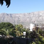 View of Table Mountain from the garden/pool area