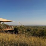 camp from a game drive car
