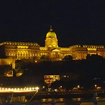 View across the Danube at night.