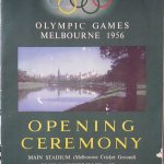 MCG 1956 Olympic Opening Ceremony program