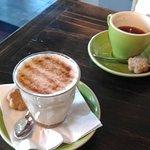 Chai Latte and Short Black Coffee