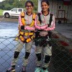 Insha and Kharmin before the skydive