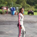 Naasha after the skydive