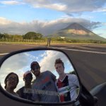 Me and my three friends overlooking Volcan Concepcion