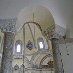 Greek columns. Much Greek work has been retained.