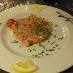 tartare saumon en entrée