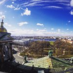 View from top of St Isaac's cathedral in early May