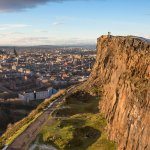 The view of Edinburgh from Salisbury Crags