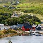 Voe, a village on mainland, Shetland.
