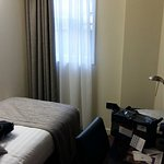 Room 408 - Single - Can see the bed (almost)