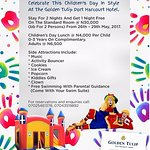 Its Children`s Day Again! Celebrate This Children`s Day in Style At The Golden Tulip Port Harcou