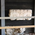 This is a piece of the synagog pillar from the time of King David that was found under the city!