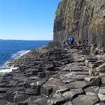 Path to enter Fingals Cave by foot. Look at the basaltic columns!