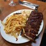 Rack of Ribs and chips served with colesaw