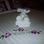 These towels were on our bed when we arrived