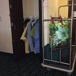 ADA Standard after ADA closet bar was moved down lower for reach by Maintenance cart 4 perspecti