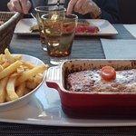 lasagne avec des frites