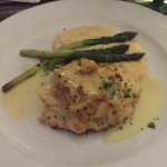Crabcakes with grits. Very good and well plated!