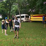 Preparing for white water Rafting at the Sabie River