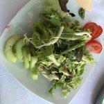 Der Salat zum Tagesmenü
