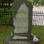 Names of people enslaved by the Bryan Family. Etched on the back of a memorial to the Bryans....