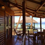 Porch of beach front cabin, Tortuga