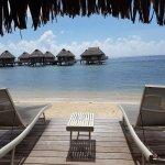 vue de notre bungalow sur la plage