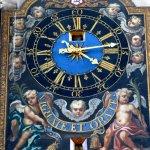 A beautiful clock in the church