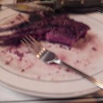 I started to take the picture when they brought the steak, but I had technical difficulties.