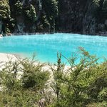 Beautiful blue hot water lake