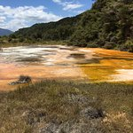 Amazing colour of the hot water springs