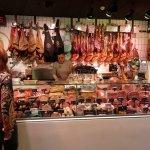 Fresh meats shop inside the San Anton Market