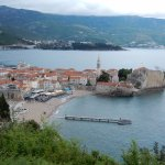 Amazing view of the town of Budva. Try the rock mussels at a seaside restaurant if given the cha
