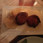 Bacon wrapped pork tederloin. The sauce was fantastic.