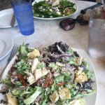 The cowboy salad - enough for two to share. In background is the spinach salad.
