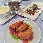 mozarella and creamy polenta