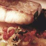 Fillet of hake, chorizo, lyonnaise potatoes & lemon & dill buerre blanc