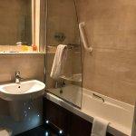 Modern bath facilities.