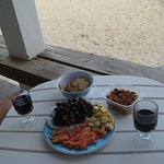 Snacks from home- enjoyed on the deck.