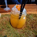 Seabuckthorn berry cocktail. Delicious!