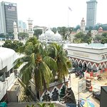 View of the Mosque (and Merdeka Square a bit further) from the metro station nearby