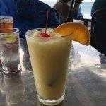 Pineapple slushy drink.  Deeeelicious!
