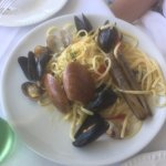 Seafood and linguine