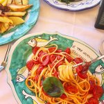 Spaghetti with Cherry Tomatoes and Basil - Yum!
