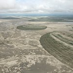 The Makgadikgadi Salt Pans from the air