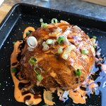 torched salmon ball