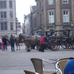 Just outside hotel on Dam Square.