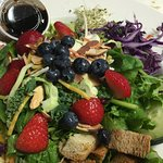 Our Signature Salad with upgrade Super food Blend at Perry's Restaurant in Sun Valley, Idaho.