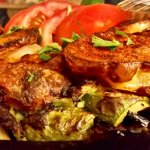 Grilled vegetables with chicken