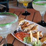 CHICKEN QUESADILLAS AND MARGARITAS
